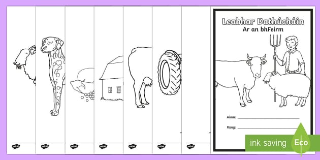 Ar an bhFeirm Colouring Pages Gaeilge