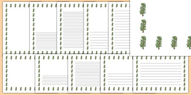 Hawthorn Tree Themed Page Borders - hawthorn tree, themed, page borders, page, borders