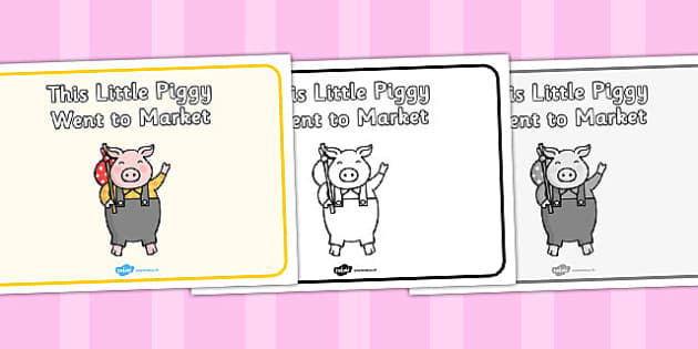 This Little Piggy Went to Market Sequencing - This Little Piggy, nursery rhyme, rhyme, rhyming, nursery rhyme story, nursery rhymes, The Little Piggy Resources, pig, pigs, farm, sequencing