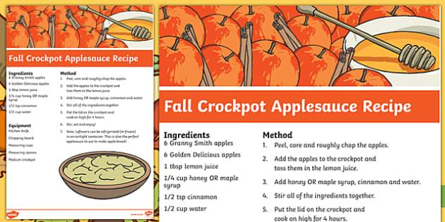Fall Crockpot Applesauce Recipe