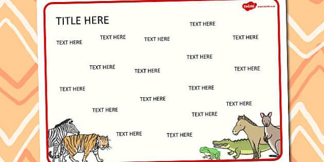 Animals Themed Editable Word Mat - literacy, words, writing, mats