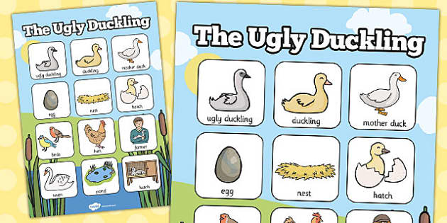 Ugly Duckling Vocabulary Poster - vocabulary, poster, ugly, duck