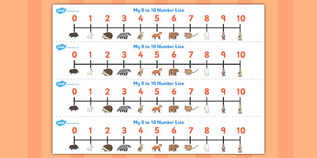 The Mitten Number Lines 0-10 - the mitten, number lines, 0-10