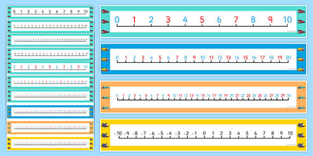 Talking Steam Train Themed Number Lines Pack up to 30 - thomas the tank engine, talking steam train, number lines, pack