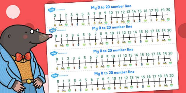 The Wind in the Willows Number Lines 0 20 - numeracy, numbers