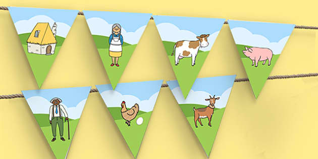A Tight Squeeze Bunting - a tight squeeze, a squash and a squeeze, julia donaldson, bunting