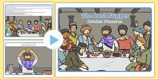 The Last Supper Story PowerPoint Polish Translation - polish, story, christianity, religion