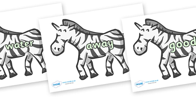 Next 200 Common Words on Zebras - Next 200 Common Words on  - DfES Letters and Sounds, Letters and Sounds, Letters and sounds words, Common words, 200 common words