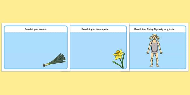 Matiau Clai 'Dydd Gwyl Dewi' - welsh, cymraeg, st davids day, topic cards