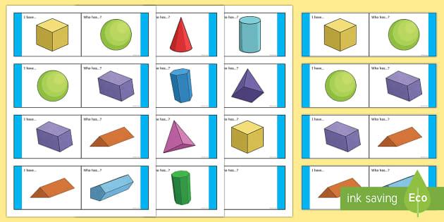 3D Shape Loop Cards - Maths Shape loop cards ,Australia