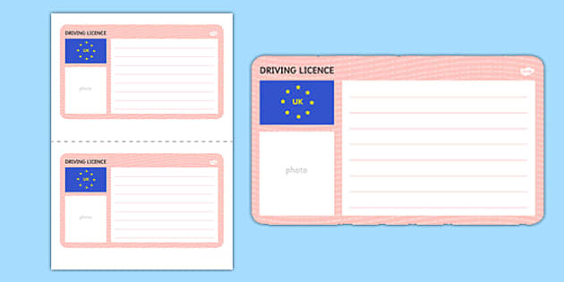 Blank Driving Licence Template Driving Cars Template