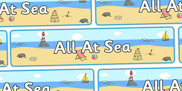 All At Sea' Display Banner - seaside, seaside banner, seaside display banner, all at sea banner, all at sea display banner, at sea banner, seaside display