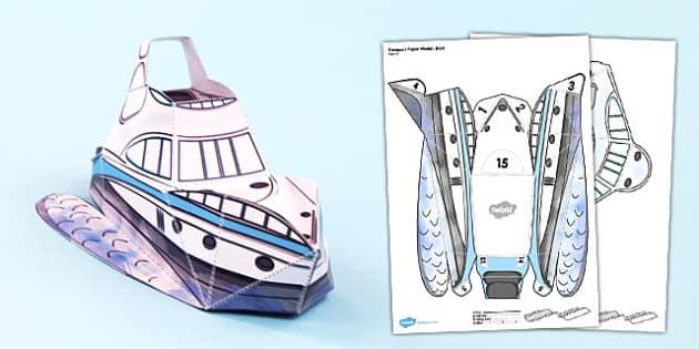 Transport Paper Model Boat - transport, paper, model, boat, craft