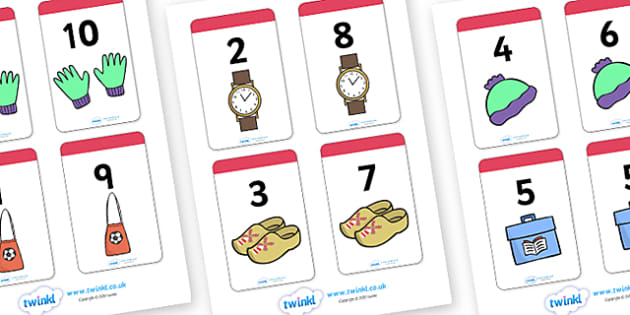 Number Bonds to 10 Matching Cards (Clothing) - Number Bonds, Matching Cards, Clothing picture Cards, Number Bonds to 10