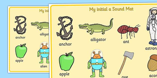 Initial a Sound Mat - initial a, sound mat, initial, a, sound, mat