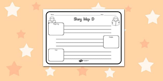 Story Map D Worksheet - australia, story, map, d, worksheet