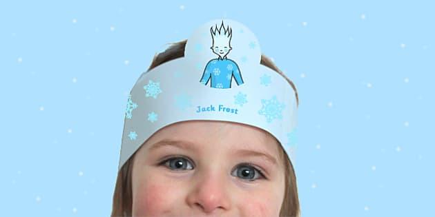 Jack Frost Headband - EYFS, KS1, winter, role-play, weather, jack frost, headband