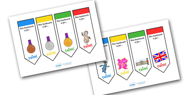 The Olympics London 2012 Bookmarks - bookmarks, Olympics, Olympic Games, sports, Olympic, London, 2012, present, gift, book, reward, achievement, activity, Olympic torch, medal, Olympic Rings, mascots, flame, compete, events, tennis, athlete, swimmin