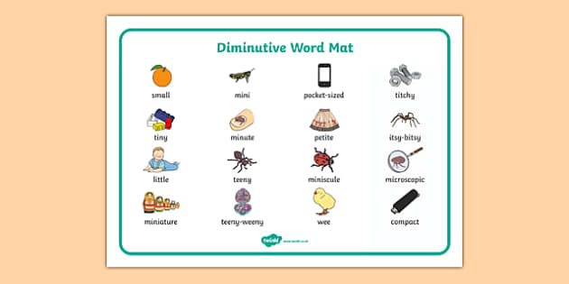Diminutive Word Mat