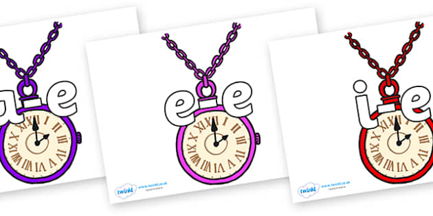 Split Digraphs on Pocket Watches - Modifying E, letters, modify, Phase 5, Phase five, alternative spellings for phonemes, DfES letters and Sounds
