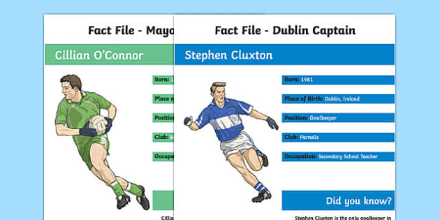 GAA All Ireland Championship Final: Captain's Fact File-Irish