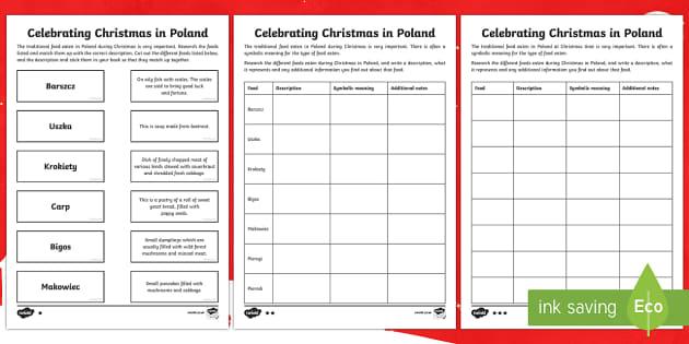 KS2 Celebrating Christmas in Poland Differentiated Writing Activity Sheet - Christmas, Nativity, Jesus, xmas, Xmas, Father Christmas, Santa, St Nic, Saint Nicholas, traditions,