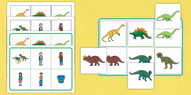 Matching Mat SEN to Support Teaching on Harry and the Bucketful of Dinosaurs - SEN, mat