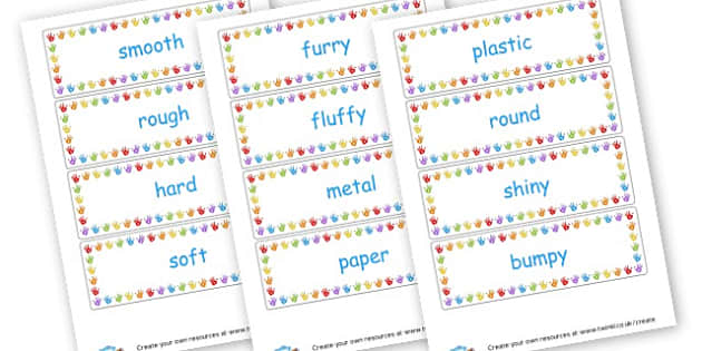 materials words - Materials Literacy Primary Resources -  Primary Resources, materi