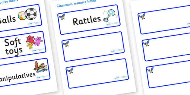 Starling Themed Editable Additional Resource Labels - Themed Label template, Resource Label, Name Labels, Editable Labels, Drawer Labels, KS1 Labels, Foundation Labels, Foundation Stage Labels, Teaching Labels, Resource Labels, Tray Labels, Printable