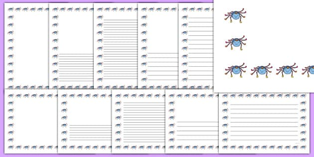 Incy Wincy Spider Page Borders - Incy Wincy Spider, nursery rhyme, Literacy, writing, page border, a4 border, template, writing aid, writing border, page template, rhyme, rhyming, nursery rhyme story, nursery rhymes, Incy Wincy Spider resources, mini