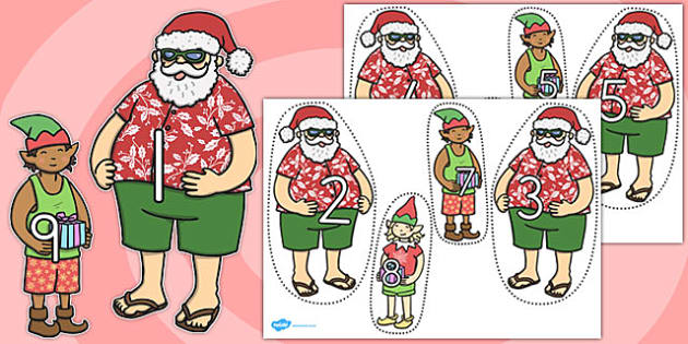 Number Bonds To 10 Matching Activity Santa And Elves - australia