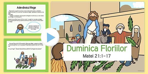 Istoria Duminicii Floriilor - Prezentare Power Point