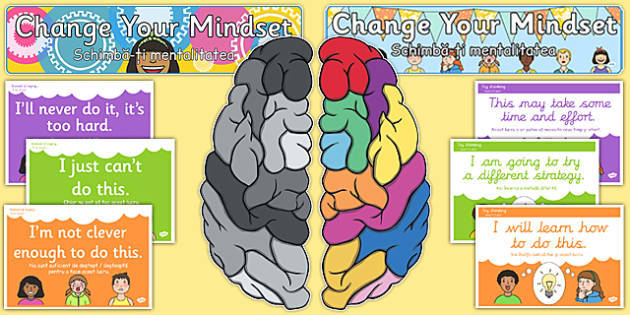 Developing Growth Mindset Display Pack Romanian Translation - romanian, Growth, Mindset, Displays