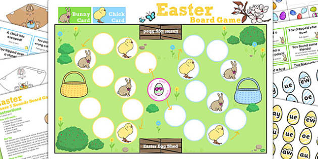Phase 5 Sounds Easter Bunny Hop Board Game - activity, activities