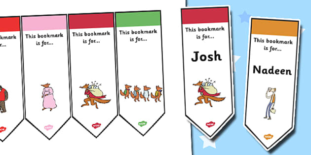 Editable Bookmarks to Support Teaching on Fantastic Mr Fox - fantastic mr fox, editable, editable bookmark, bookmarks, awards, bookmark awards, reward bookmarks, themed bookmarks