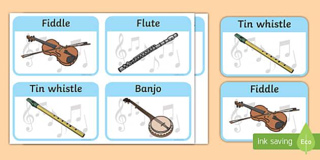 Traditional Irish Musical Instruments Listening and Responding Activity Sheet