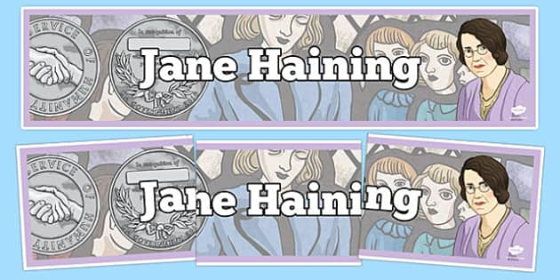 Scottish Significant Individuals Jane Haining Display Banner - Scottish significant individual, Christian, missionary, Holocaust, Jewish, Auschwitz
