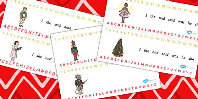 The Nutcracker Combined Number and Alphabet Strips - nutcracker