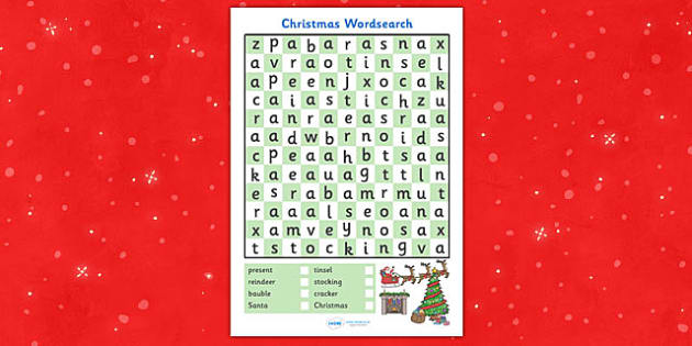Christmas Themed Wordsearch Activity - christmas, wordsearch