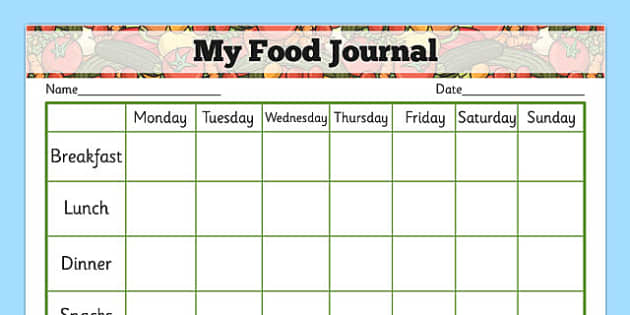 My Healthy Eating Food Journal - health, healthy food, food