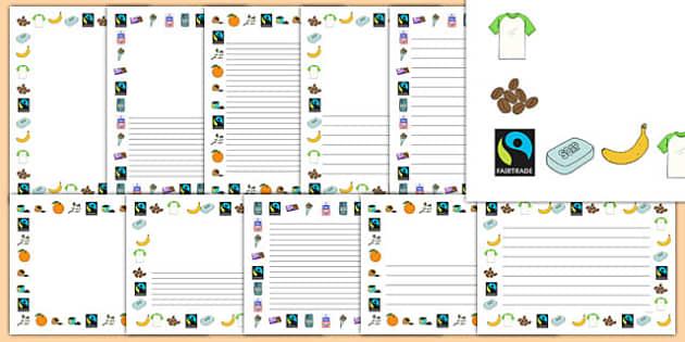 Fairtrade Page Borders - fairtrade, borders, page borders, write