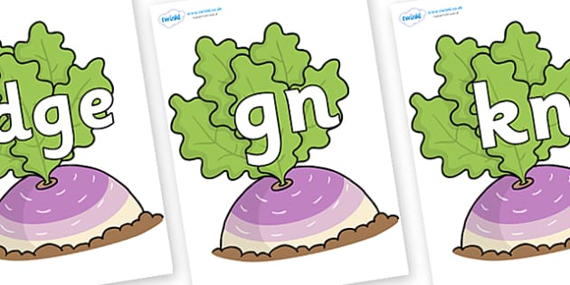 Silent Letters on Turnip in the Ground - Silent Letters, silent letter, letter blend, consonant, consonants, digraph, trigraph, A-Z letters, literacy, alphabet, letters, alternative sounds