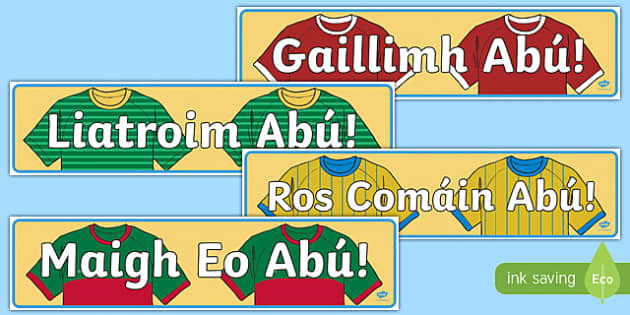 Irish Connacht Counties Abú GAA Display Banner-Irish