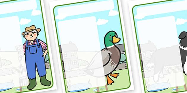 Farm Themed Target Posters - farm, farm themed, target posters, targets, class targets, themed targets, class management, posters, themed posters
