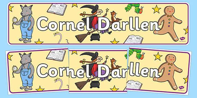 Baner Cornel Darllen Welsh - welsh, cymraeg, Cyfnod Sylfaen, Cornel Darllen
