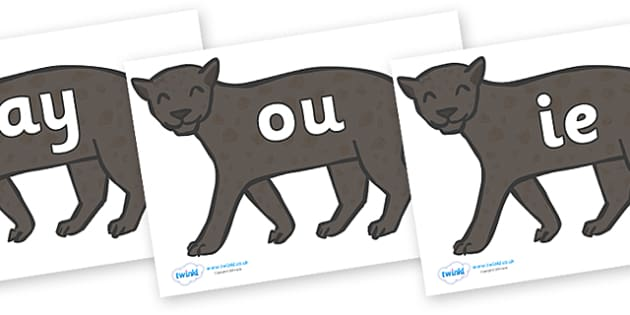 Phase 5 Phonemes on Panthers - Phonemes, phoneme, Phase 5, Phase five, Foundation, Literacy, Letters and Sounds, DfES, display