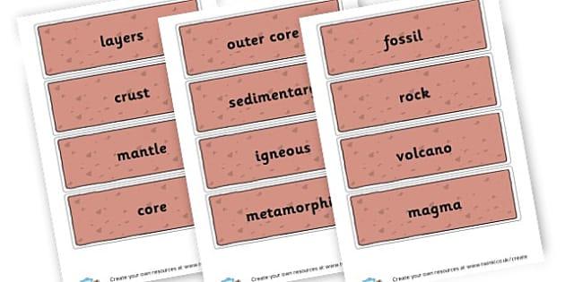 Rocks & Soils Key Words - Rocks, Earth & Soil Primary Resources, rock, mountain, volcano