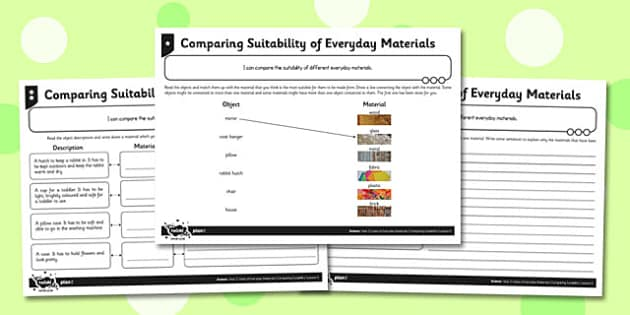 Comparing the Suitability of Everyday Materials Differentiated