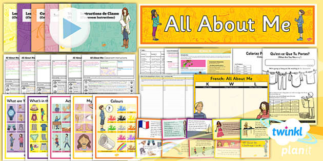 PlanIt - French Year 3 - All About Me Unit Pack - french, languages, myself, family, clothes