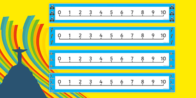 The Olympics Number Line (0-10) - Olympics, Olympic Games, sports, Olympic, London, 2012, Counting, Numberline, Number line, Counting on, Counting back, activity, Olympic torch, flag, countries, medal, Olympic Rings, mascots, flame, compete, events,
